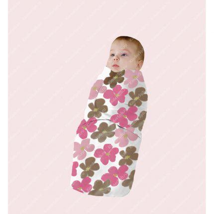 При пеленании ребенок лучше спит...  Пеленка на липучках (флис) .