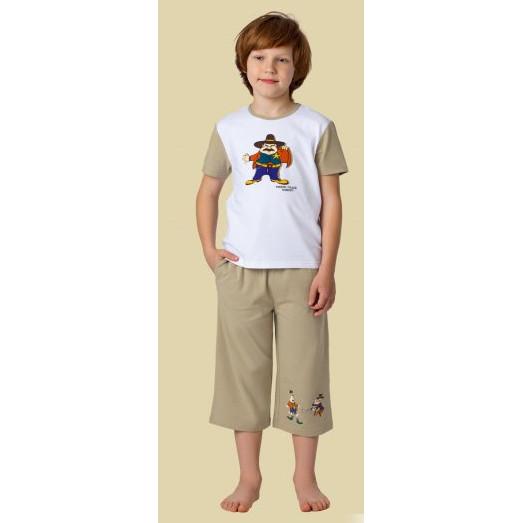 Charmante Комплект для мальчиков (футболка и брюки) BXP 461310 - белый/светло-коричневый