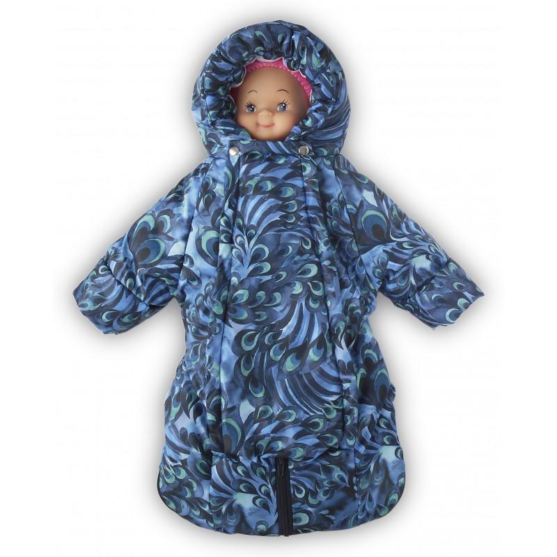 LovelyCare Комбинезон-трансформер демисезонный синий (хлопок) 100300